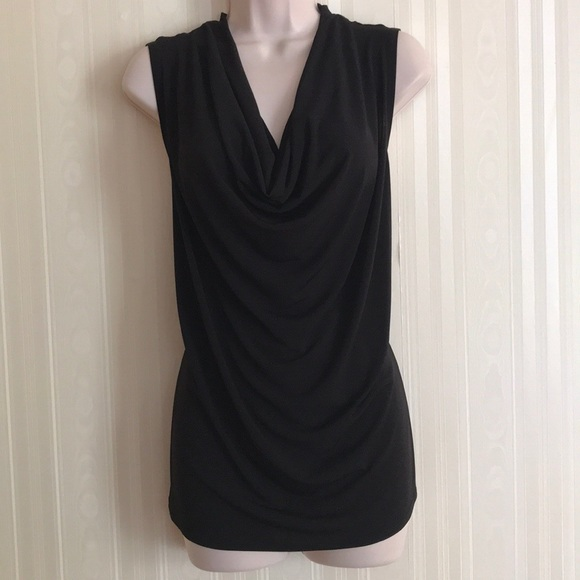 1c5a4c640d706 NY COLLECTION black sleeveless cowl neck top NWT